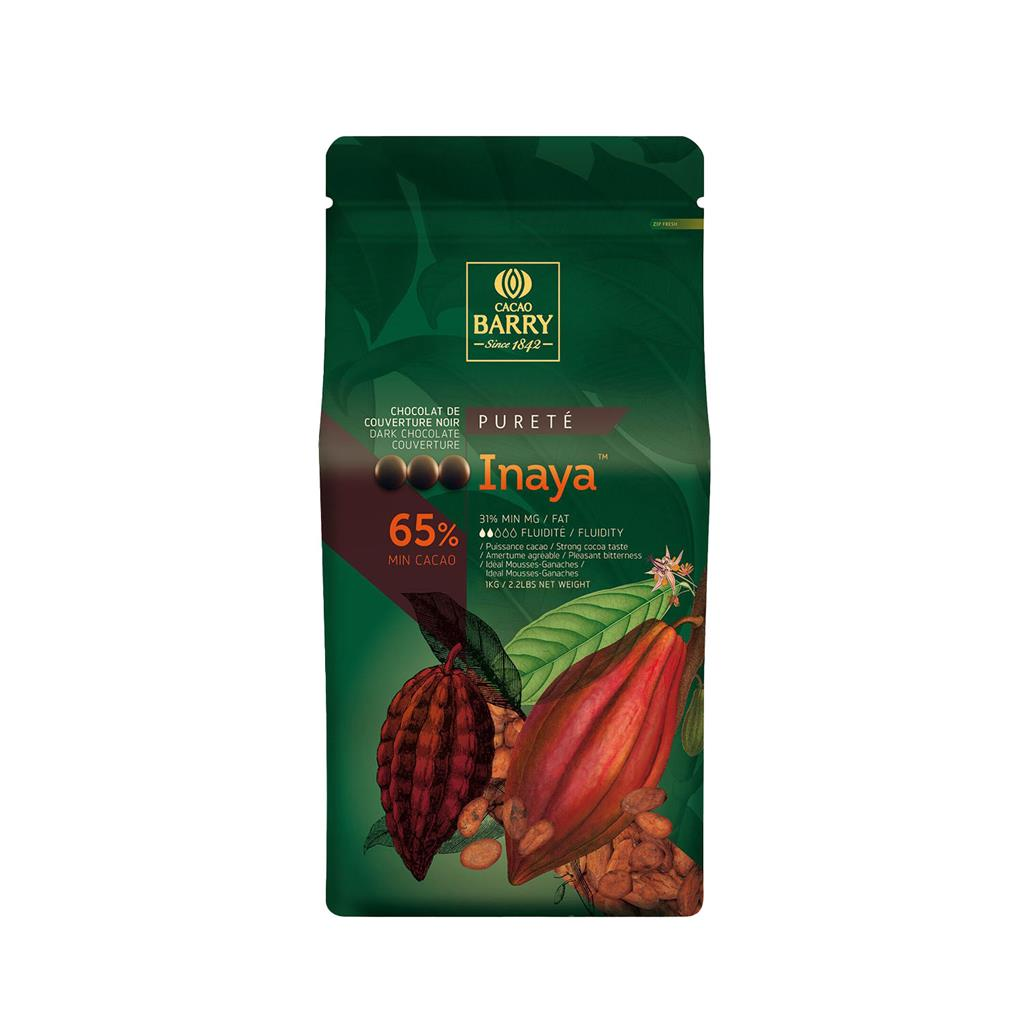 Chocolade callets puur Inaya Cacao Barry 5,0 kg