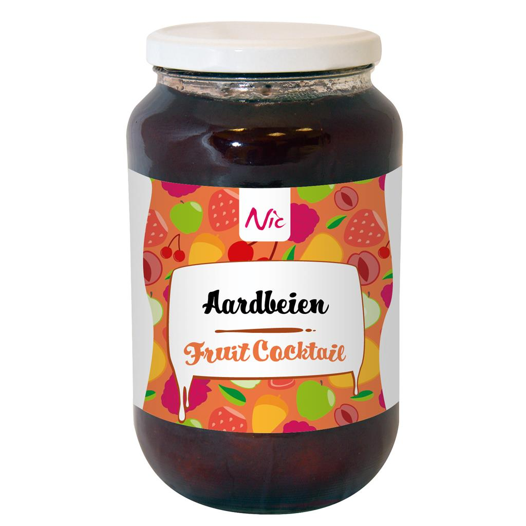 Aardbeien fruitcocktail Nic 1,0 l*